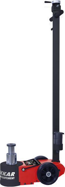 Image sur Cric rouleur oléopneumatique FORCE DE TRAVAIL 20/40T Hauteur mini 150mm Hauteur maxi 409mm (avec ral