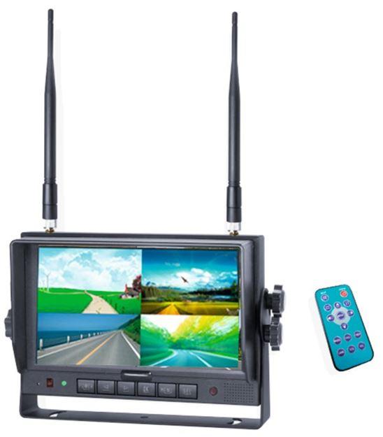 Image sur Moniteur 7'' QUAD sans fils Digital 2,4 GHz